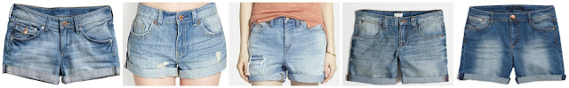 H&M Denim Shorts $7.00 (regular $19.95)  Forever 21 Distressed Cuffed Denim Shorts $17.82 (regular $19.80) extra 30% off with code EXTRA30  J. Crew Factory Cuffed Denim Short $26.50 (regular $59.50)  Tinsel Cuffed Denim Shorts $33.75 (regular $45.00)  Madewell Rip & Repair Denim Boyfriend Shorts $49.50 (regular $74.50)   And if you like your shorts a little longer, check out this pair and this pair (only $15!)