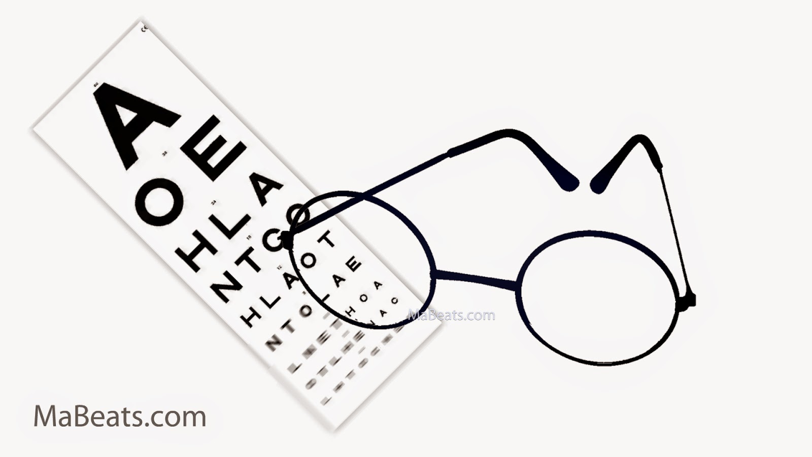 Wearing Glasses - you are one eye test away