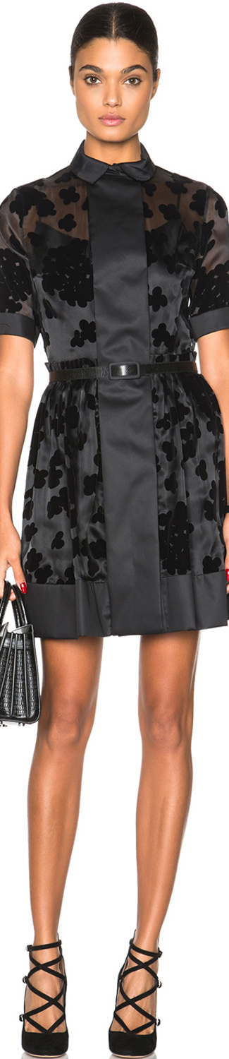 Carven Collared Mini Dress