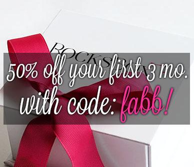 Rocksbox 50% off Discount Code