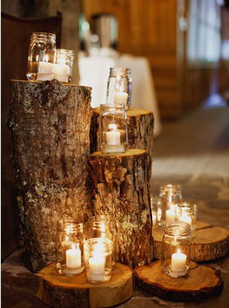 The awesometastic bridal blog natural wedding decor Natural decorating