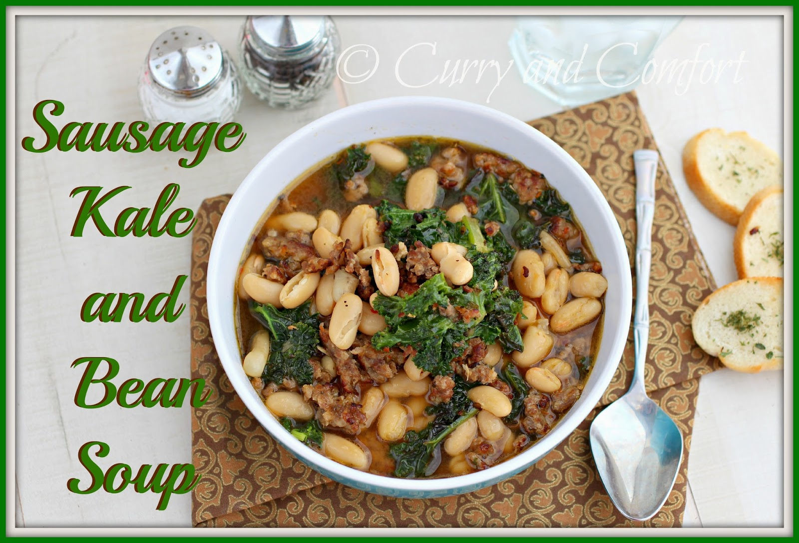 Italian Sausage, Kale, And Cannellini Bean Soup Recipe — Dishmaps