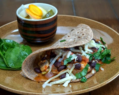 Zucchini Mushroom Tacos, a quick vegan filling for Meatless Monday tacos. For Weight Watchers, #PP3. #AVeggieVenture.
