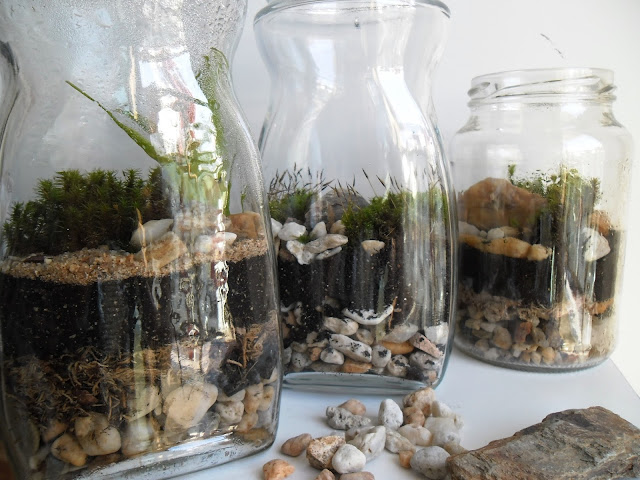 sugestão para uso de potes de vidro