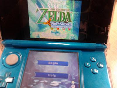 The Legend Of Zelda Four Swords 3DS