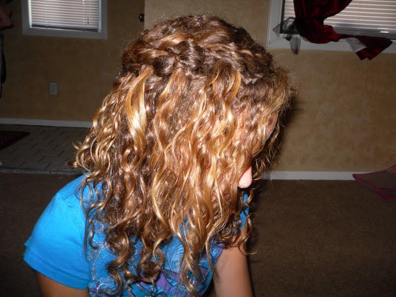 Pin Waterfall Braid Curly Hair Prom on Pinterest