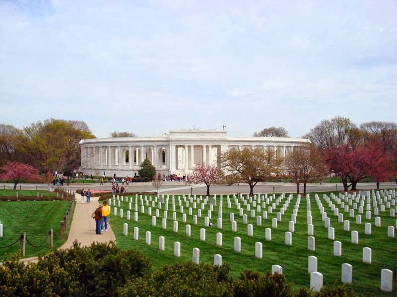 Arlington National Cemetery, in Virginia across the Potomac River from Washington, D.C.