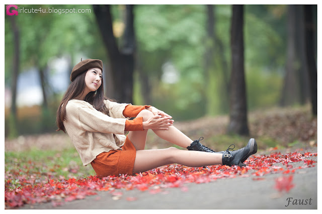 Park-Hyun-Sun-Autumn-Orange-Dress-01-very cute asian girl-girlcute4u.blogspot.com