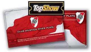 River Plate TopShow Canje de entradas para socios