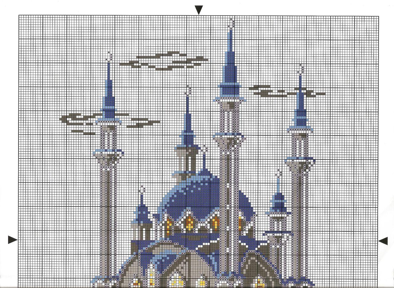 Схем а вышивки мечети 715