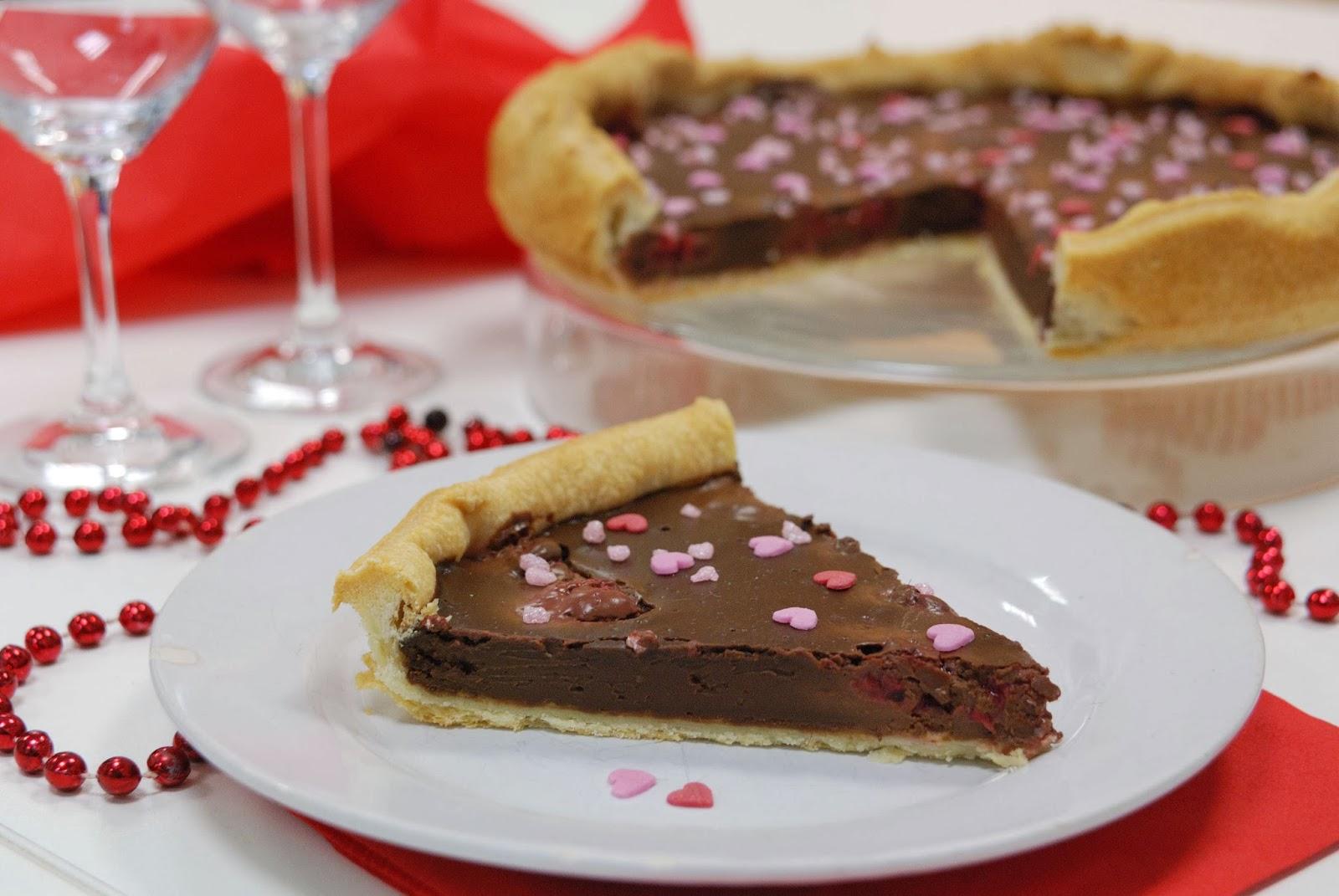 recette tart tarte chocolat framboise