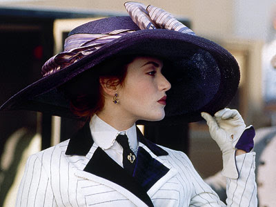 kate winslet, titanic, wide brim hats