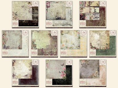 Scraps of Darkness Feb. Heirloom Kit Patterned Papers