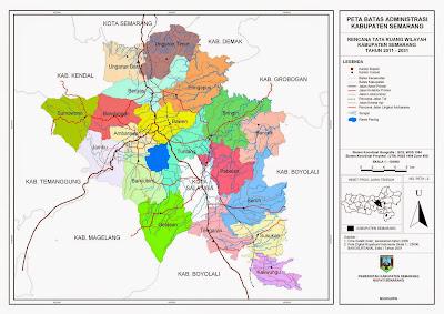 Peta Batas Administrasi Kabupaten Semarang