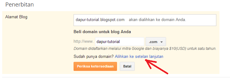 Costum Domain Blogspot 1