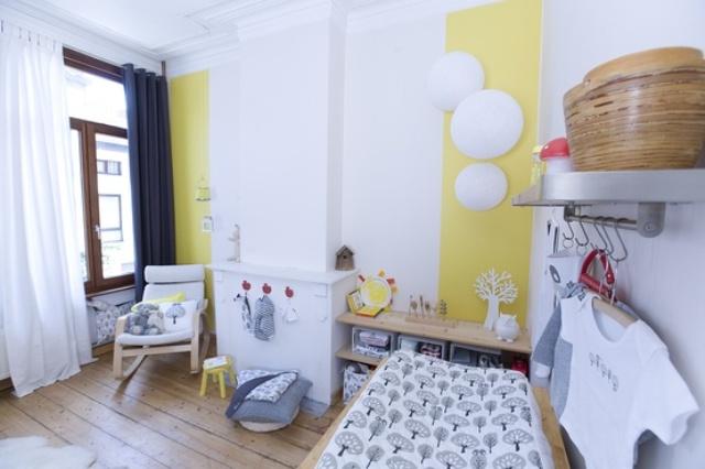 babykamer met geel ~ lactate for ., Deco ideeën