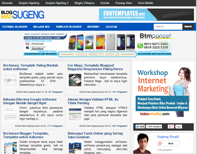 Download MAS SUGENG 2014 BLOGGER TEMPLATE
