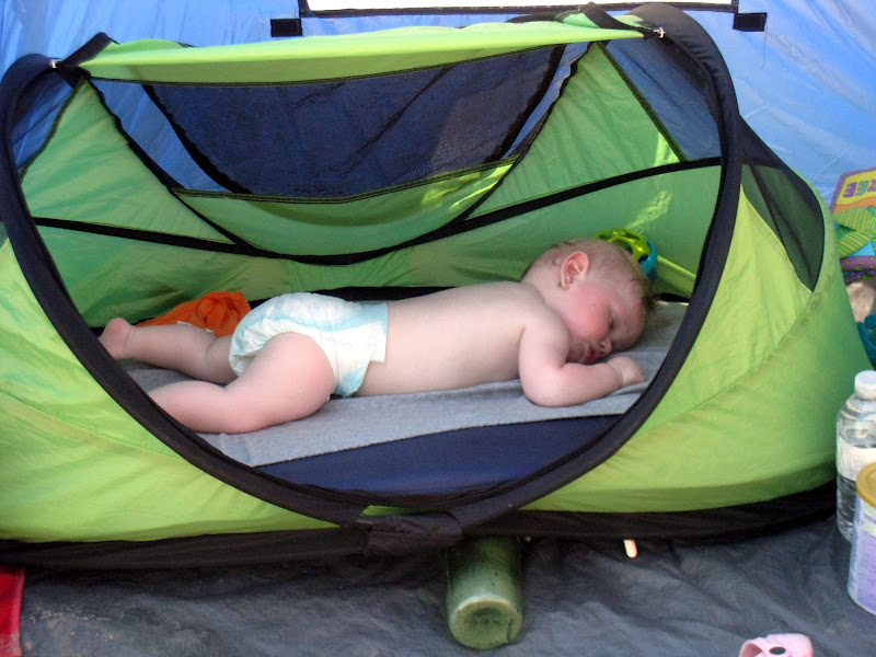 Using a peapod for a daytime nap (photo G. Duncan) & Family Adventures in the Canadian Rockies: Family Camping Made ...