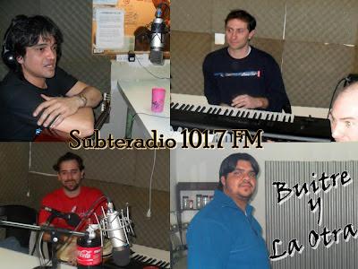 """buitre y La Otra en """"Subterradio 101.7 FM"""" Hernan buitre Deheza, nex lopez"""
