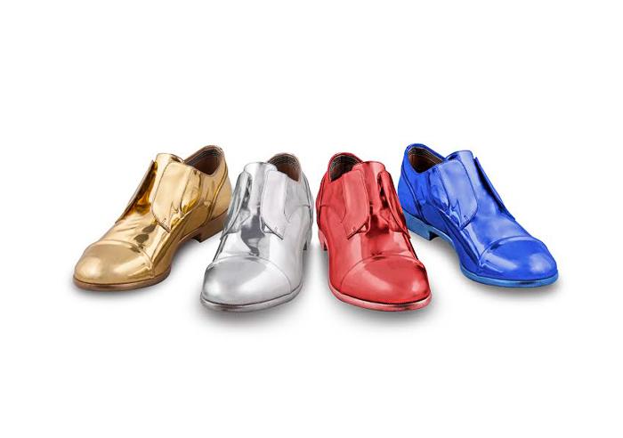 Colección de zapatos en colores metálicos de Fratelli Rosseti
