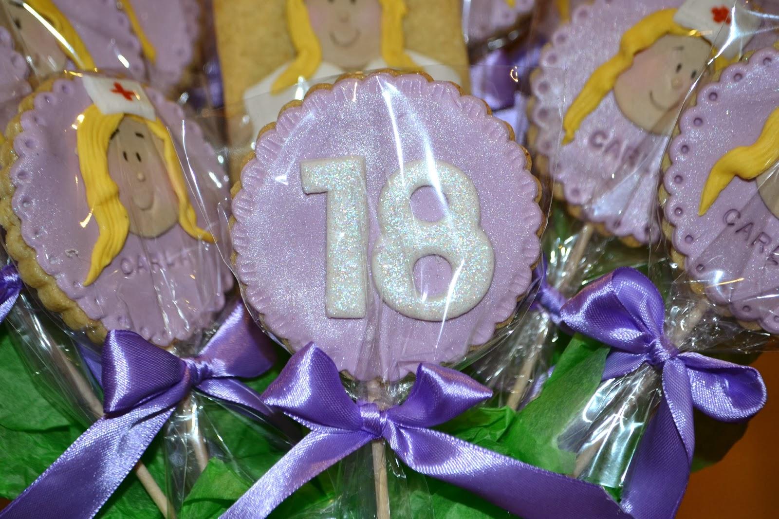 fondant enfermera violeta cumpleaños 18 lazos raso empaquetadas individualmente purpurina comestible brillante