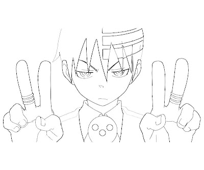 Perfect Soul Eater Coloring Pages Death The Kid Inspiration - Resume ...