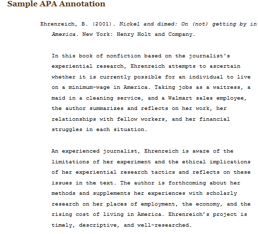 bibliography apa sample paper