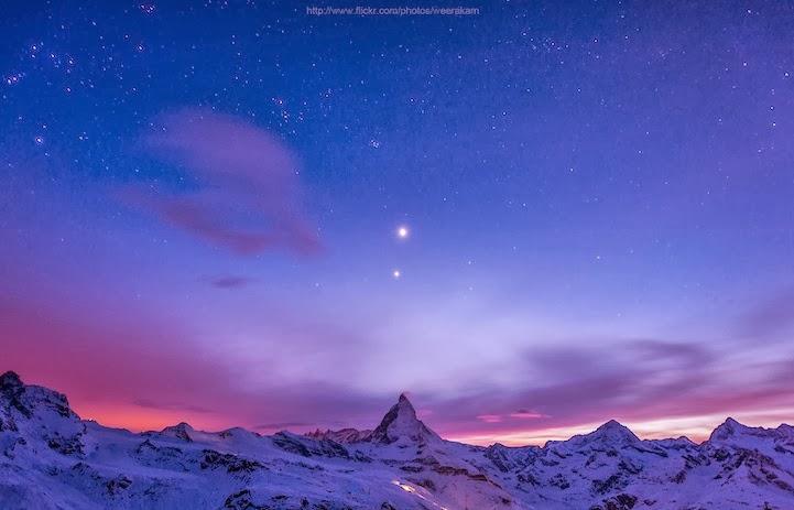 Impresionantes fotos del Monte Cervino en todas las horas del día