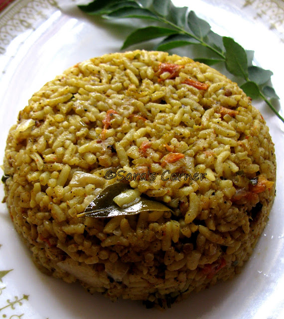 karuvepillai and thakalli rice | curry leaves tomato rice | lunch box special!