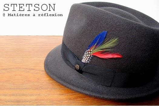 Chapeau petit bord Stetson pour homme en feutre taupe