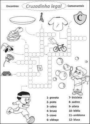 Atividades para alfabetização.