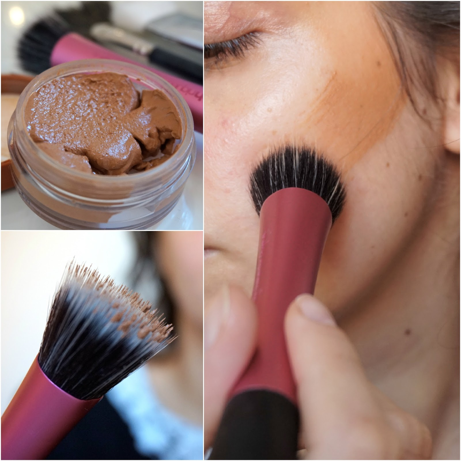 Bourjois Bronzing Primer, Real Techniques Stippling brush