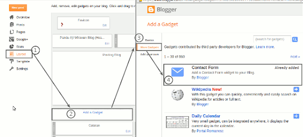 Cara Membuat Contact Form Sederhana di Blogger