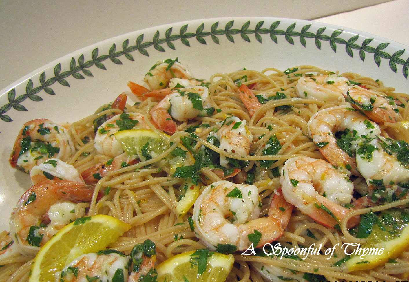 Spoonful of Thyme: Linguine with Shrimp Scampi and a Trip to Africa!