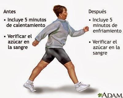 ejercicio y nivel de glucosa en la sangre