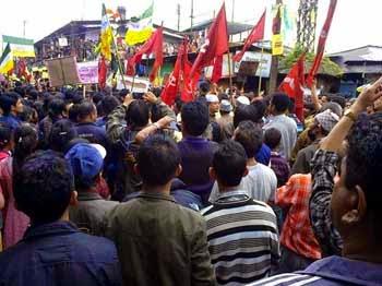 Political rallies in chowkbazar darjeeling