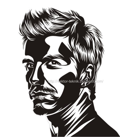 beckham-line art-cdr-eps coreldraw pop art