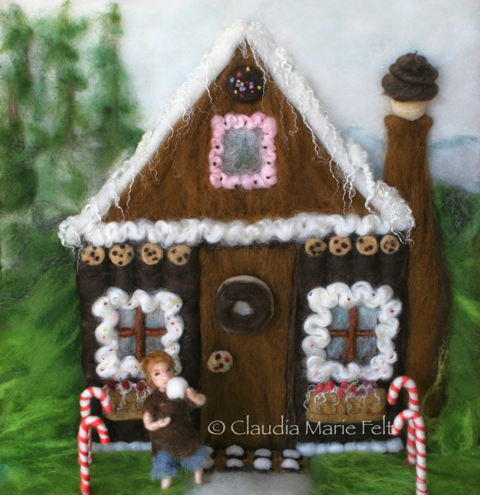 Hansel Gretel Gingerbread House Book Illustration