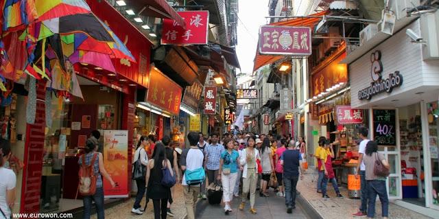 Callejuela comercial de Macao