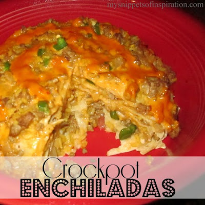 corockpot Enchiiladas featured on BBQ Block Party by Easy Life Meal & Party Planning