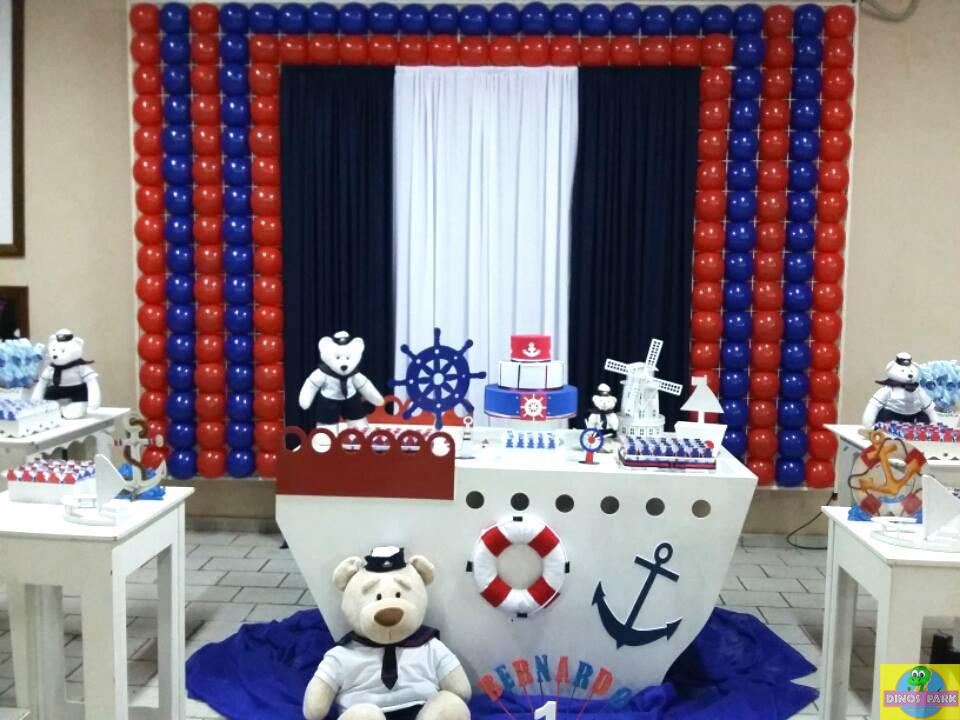 Dinos park buffet infantil festa urso marinheiro bernardo 1 aninho buffet infantil bauru dinos park decorao urso marinheiro thecheapjerseys Image collections