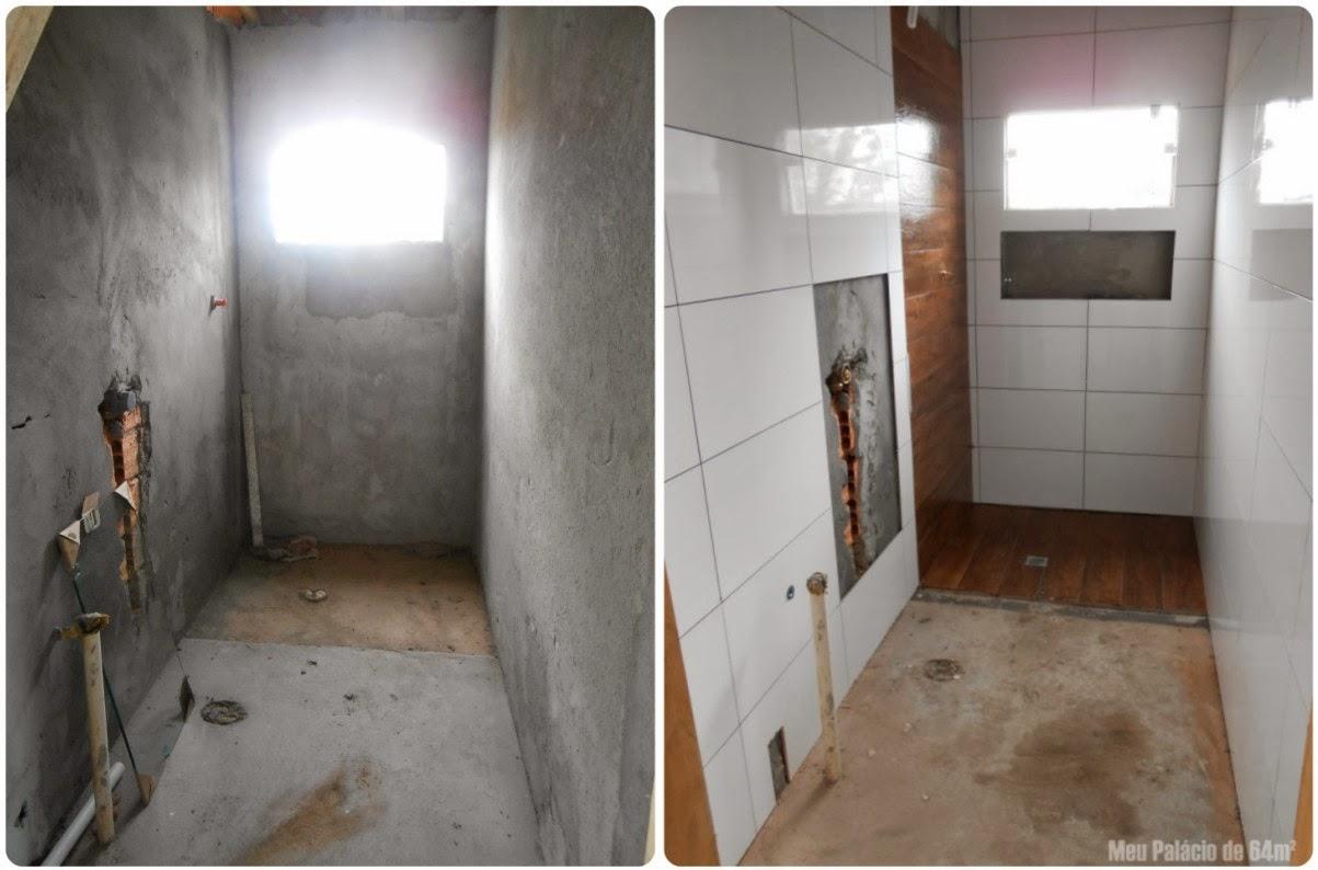 encontram nesse post aqui > Revestimentos escolhidos para o banheiro #624E3D 1203x794 Banheiro Bege Com Madeira