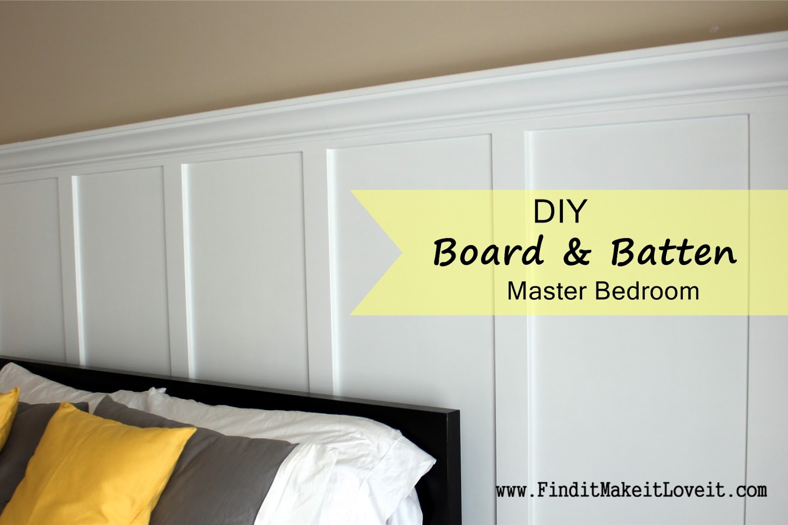 DIY Board and Batten Master Bedroom. DIY Board and Batten Master Bedroom   Find it  Make it  Love it