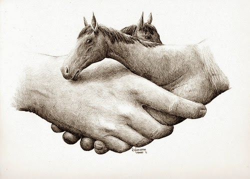 07-Shaking-Horses-Redmer-Hoekstra-Surreal-Animals-Ink-Drawings-www-designstack-co