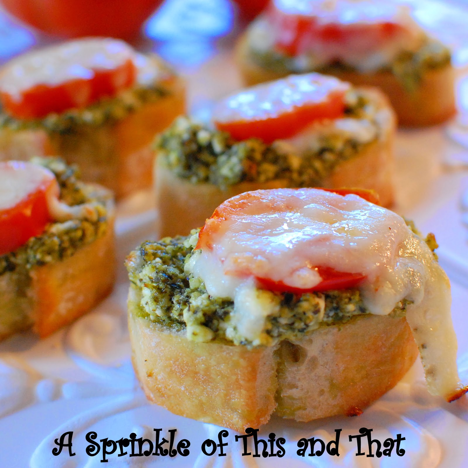 Here's all you need to make Pesto and Goat Cheese Crostini.