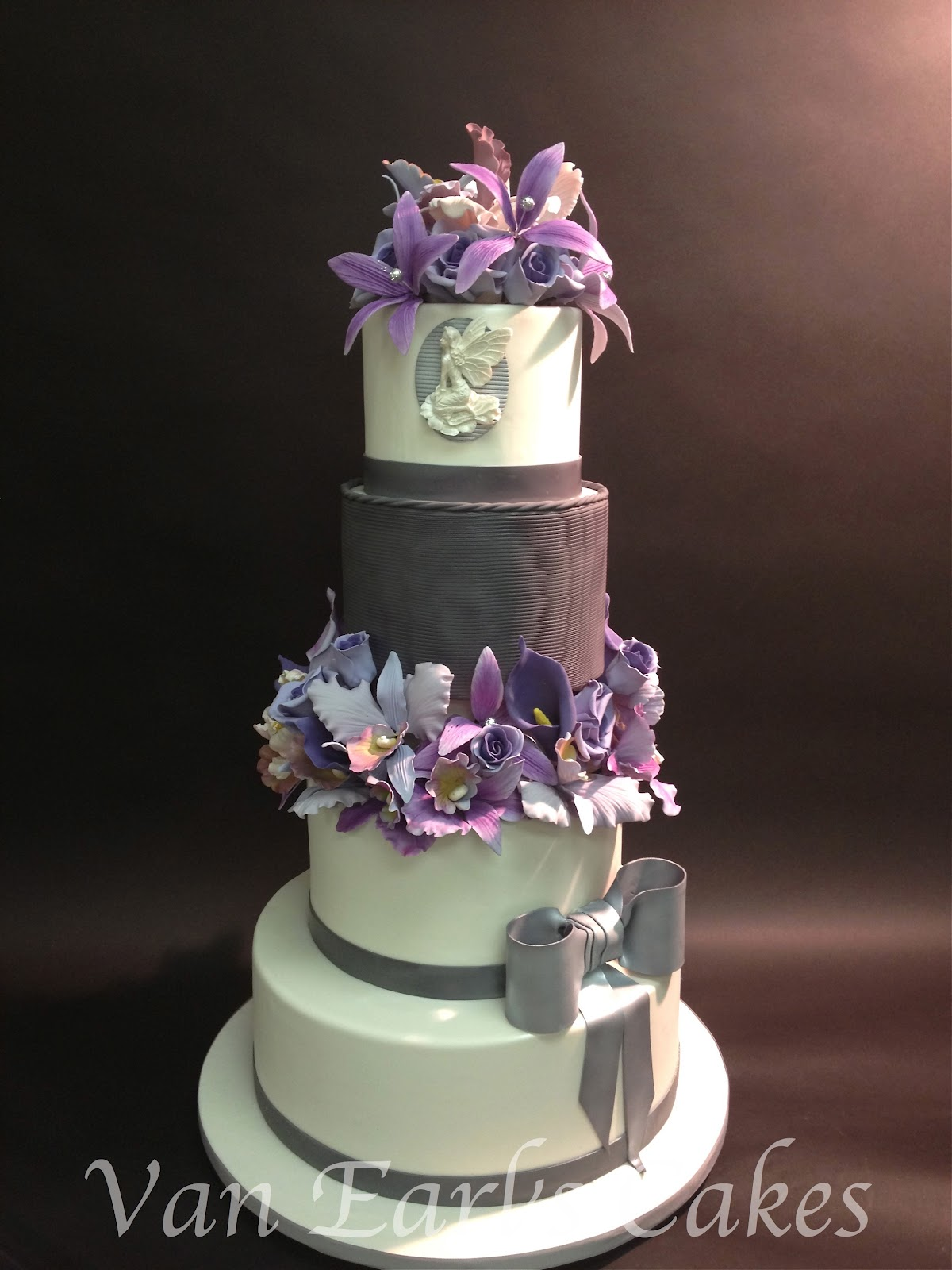 Van Earls Cakes 70th Lavender And Gray Birthday Cake