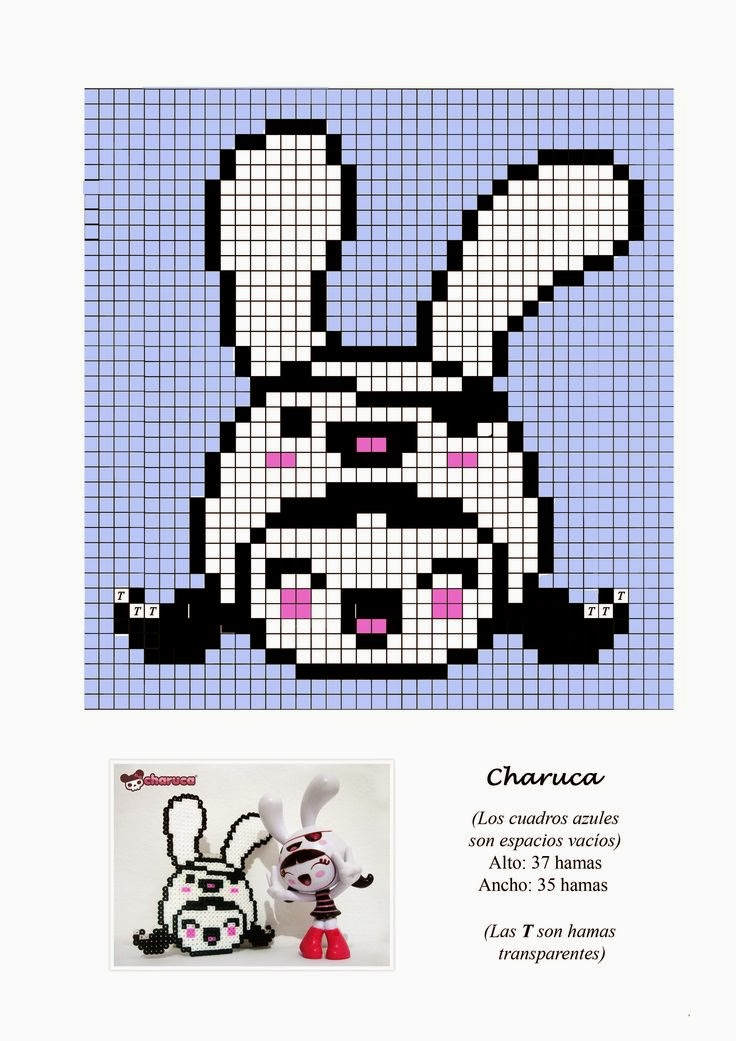 Charuca Hama Beads Pattern post by wememade