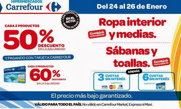 Ofertas y promos en argentina enero 2014 - Ropa interior carrefour ...