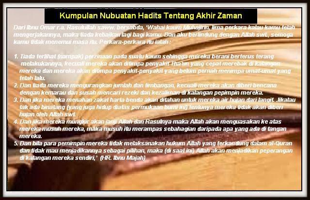 Kumpulan Nubuatan Hadits Tentang Akhir Zaman