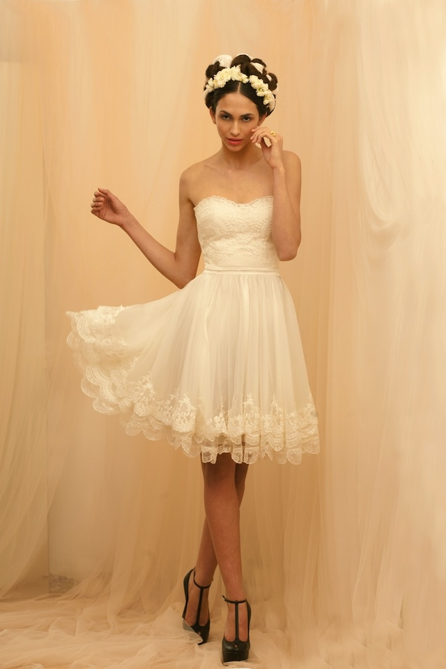 Bonitos vestidos de novias | Colección vestidos cortos